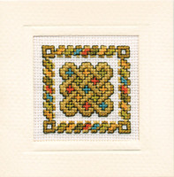 Celtic Knot Miniature Card Cross Stitch Kit by Textile Heritage