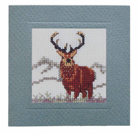 Stag Miniature Card Cross Stitch Kit by Textile Heritage