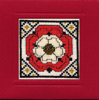 Tudor Rose Miniature Card Cross Stitch Kit by Textile Heritage