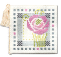 Mackintosh Rose Needle Case Cross Stitch Kit by Textile Heritage