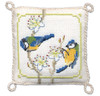 Bluetits Pin Cushion Cross Stitch Kit by Textile Heritage