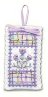Tartan Thistles Sachet Cross Stitch Kit by Textile Heritage