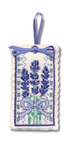 Victorian Lavender Sachet Cross Stitch Kit by Textile Heritage