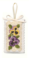 Victorian Pansies Sachet Cross Stitch Kit by Textile Heritage