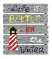 By The Water Plastic Canvas Kit