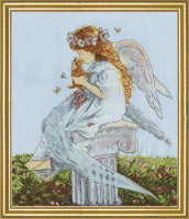 Angel with Kitten Cross Stitch Kit by Design Works
