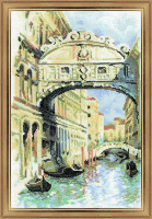 Venice, Bridge of Sighs Cross Stitch Kit by Riolis