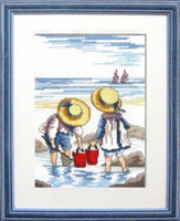 Rock Pooling Cross Stitch kit By Faye Whittaker
