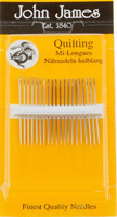 John James Pack of Quilting Needles. Size 12