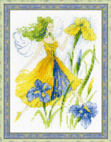 Sunny Day Fairy Cross Stitch Kit by Riolis
