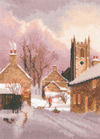 Snowy Village Cross Stitch Kit By Heritage