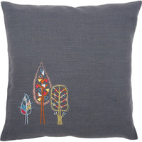 Stylised Flowers 1 Embroidery Cushion Kit By Vervaco