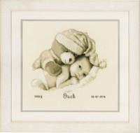 Baby & Teddy  Cross Stitch Kit By Vervaco