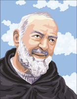 Padre Pio Portrait  Canvas only By Grafitec