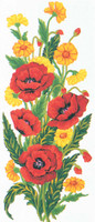 Poppies Canvas only By Grafitec