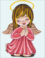 Angel Girl Prayer Canvas only By Grafitec