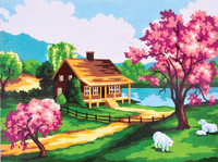 Spring Scene Canvas only By Grafitec