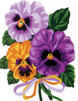 Pansies Canvas only By Grafitec