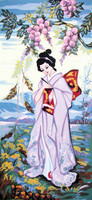 Lavender Geisha Canvas only By Grafitec