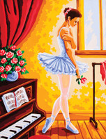 Ballet Lesson Canvas only By Grafitec