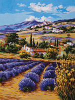 Lavender Fields Canvas only By Grafitec