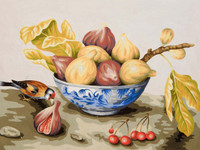 Bowl of Figs Canvas only By Grafitec