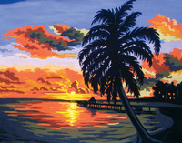 Tropical Sunset Canvas only By Grafitec