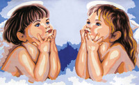 Daydreaming Cherubs Canvas only By Grafitec