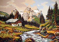 Mountain Chalet Canvas only By Grafitec