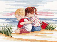 Sibling Love - All Our Yesterdays Cross Stitch Kit By Faye Whittaker