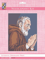 Padre Pio Praying  Tapestry Kit By Grafitec