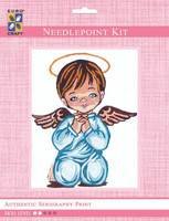 Boy Angel Praying  Tapestry Kit By Grafitec