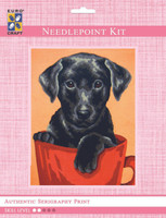 Black Puppy  Tapestry Kit By Grafitec
