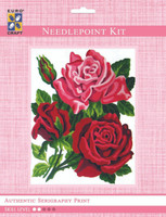 Trio of Roses  Tapestry Kit By Grafitec