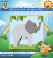 Trumpeting Elephant  Tapestry Kit By Grafitec
