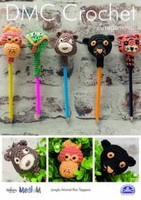 Jungle Animal Pen Toppers  Crochet Pattern by DMC
