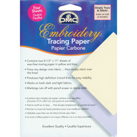 Embroidery Tracing Paper, Yellow/Blue, 4-Sheets by Dmc