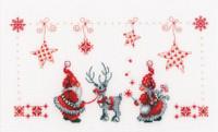 Christmas Elves  Cross Stitch Kit By Vervaco