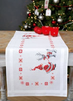 Christmas Elves Runner Emboidery Kit By Vervaco