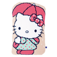 Hello Kitty: Under Umbrella Chunky Cross Stitch Cushion By Vervaco