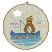 Lief! Indian Bear - Canoe Counted Cross Stitch Kit By Vervaco