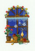 Winter Window Cross Stitch Kit By Riolis
