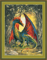 Forest Dragon Cross Stitch Kit By Riolis