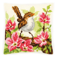 Bird and Pink Flower Chunky Cross Stitch Kit By Vervaco