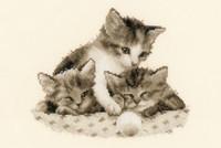 Three Little Kittens Cross Stitch Kit By Vervaco