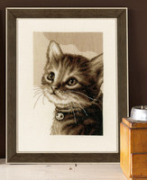 Kitten   Cross Stitch Kit By Vervaco