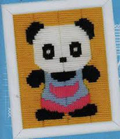 Panda Childrens Starter Longstitch Kit By Vervaco