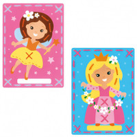 Princesses (set of 2) Embroidery card for children 3+ By Vervaco