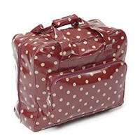 Sewing Machine Bag: Value: PVC: Burgundy Spot By Hobbycraft