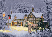 Christmas Inn Cross Stitch Kit By Heritage